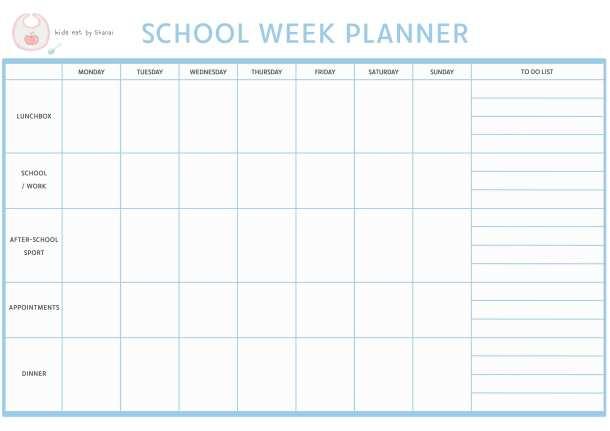 Verwonderlijk 10 Tips on How to Get Organised for the School Week | Kids Eat by KU-37