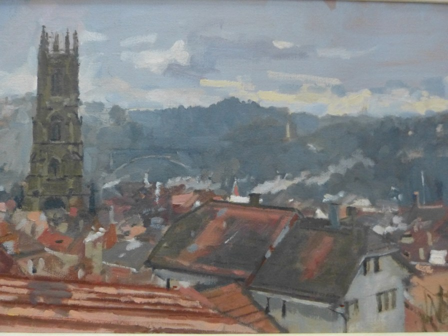 From 'Fribourg, Spring Morning view from St Michael's College'