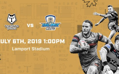 FREE TICKETS – TORONTO WOLFPACK RUGBY GAME JULY 6, 2019