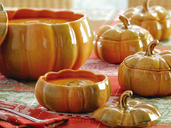 Image result for pumpkin soup bowls