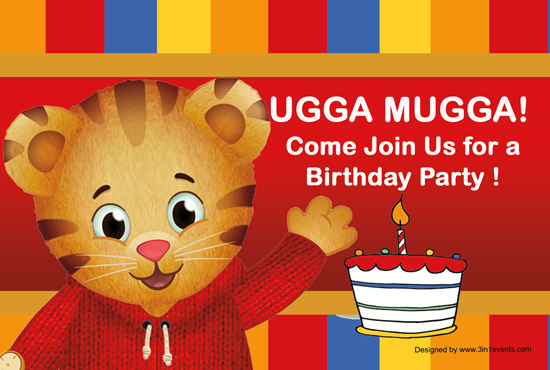 Daniel The Tiger Birthday Party Kids Kustom Parties