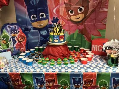 Pj Mask Birthday Party Palatine Il Kids Kustom Parties