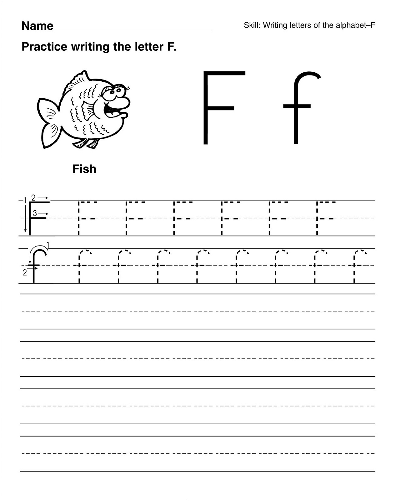 Preschool Letter Worksheets F