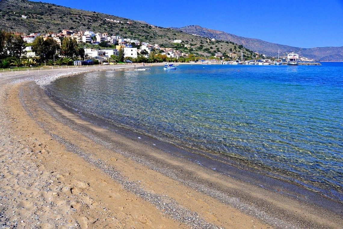 Skisma beach Elounda KidsLoveGreece.com