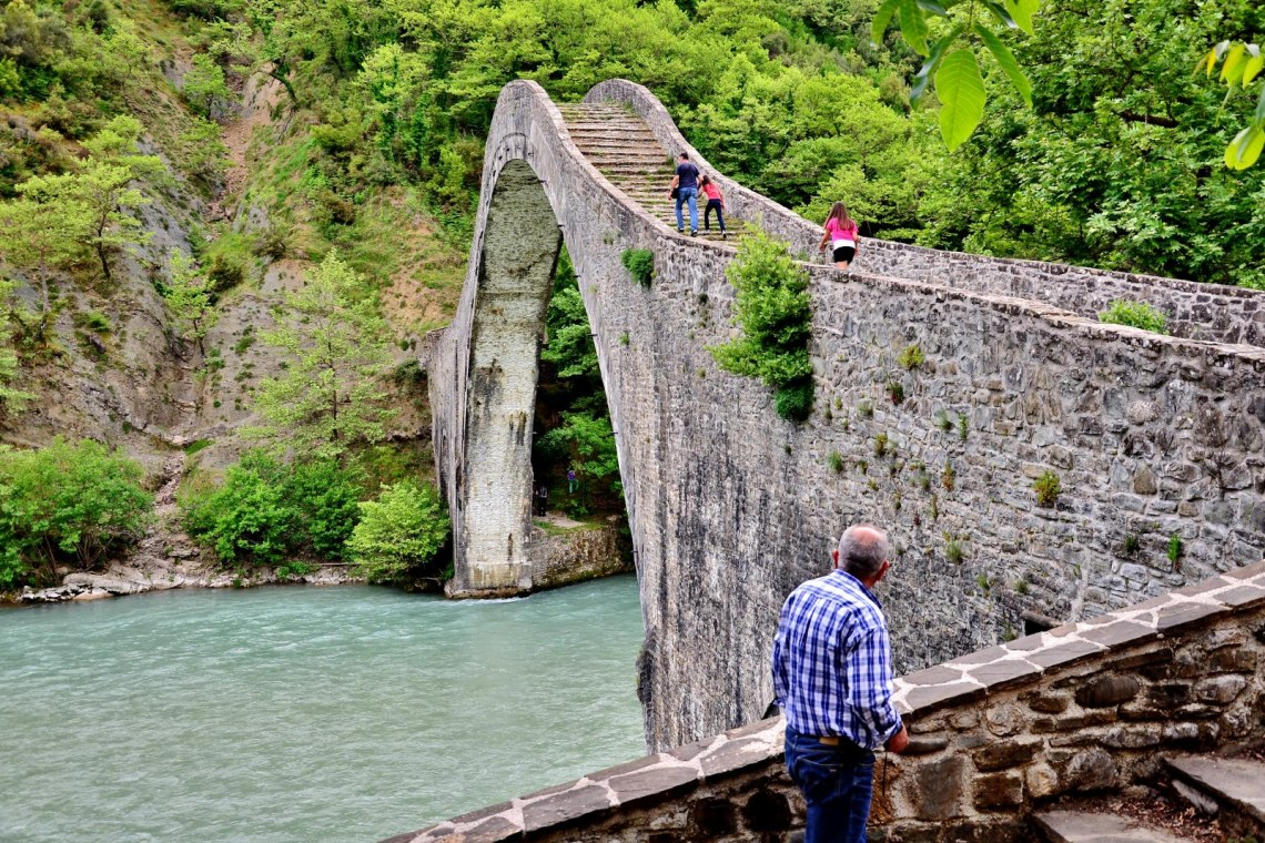 Plaka bridge Tzoumerka KidsLoveGreece.com