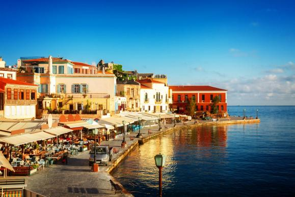 Chania venetian port pier