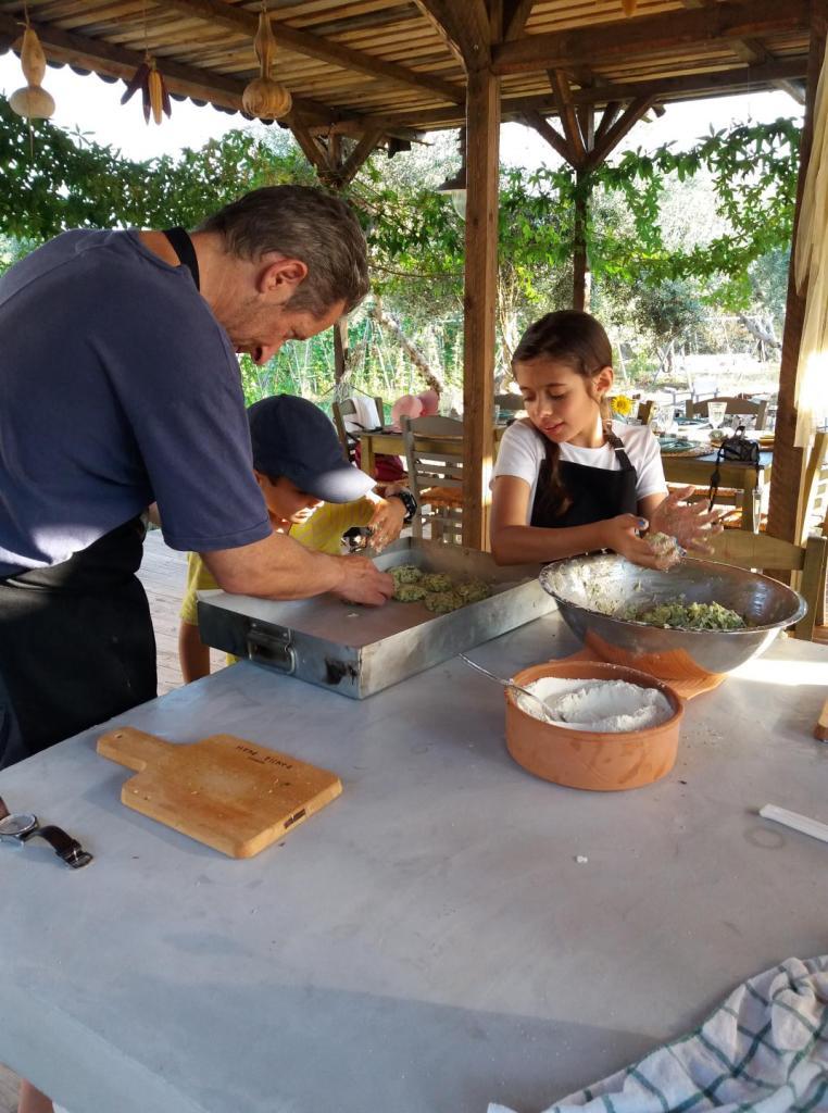 Cretan Cookery Workshop Crete family activity gastronomy local ingredients olive farm kidslovegreece Greece culture