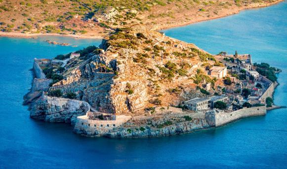 Spinalonga isle Elounda Crete