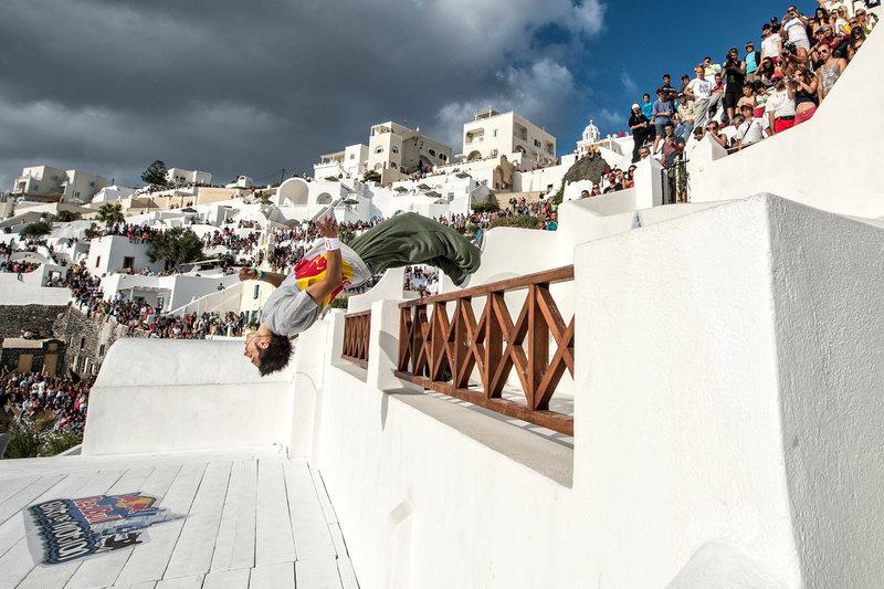 Red Bull Art of Motion in Santorini
