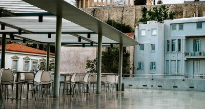 Restaurant at the Acropolis Museum