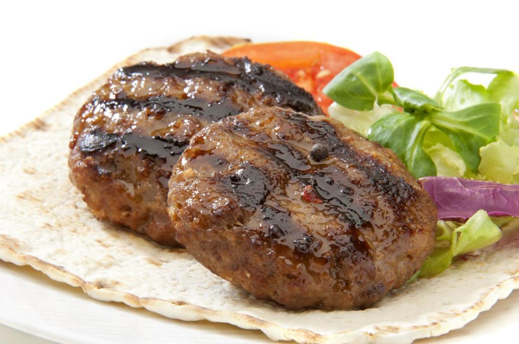 grilled small burgers greek food