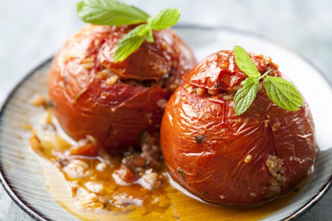 stuffed tomatoes gemista greek food