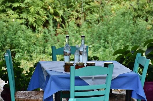Greek hospitality table drinks