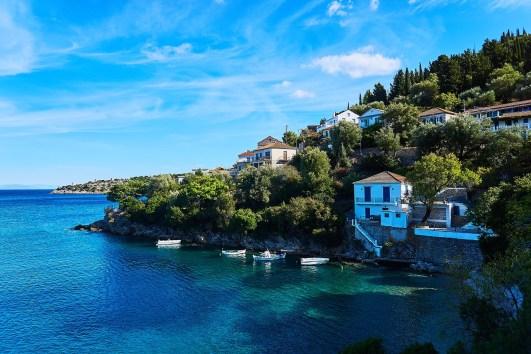 ithaca island village sea