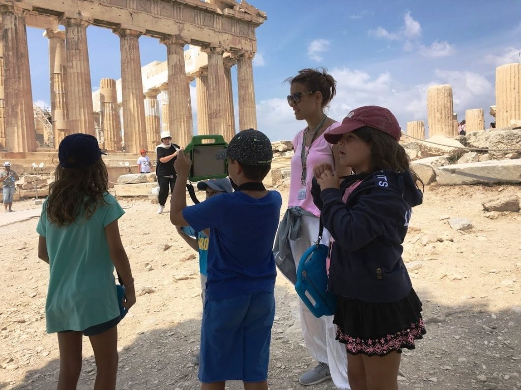 Acropolis tablets family guided tour 11-day family vacation package in Greece athens kids love greece holiday packages for families