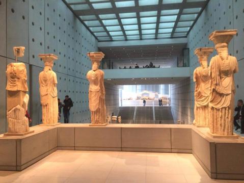 Karyatides statues in Acropolis museum Athens