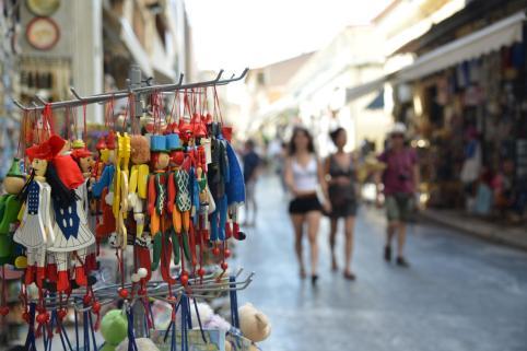 Monastiraki market walkers