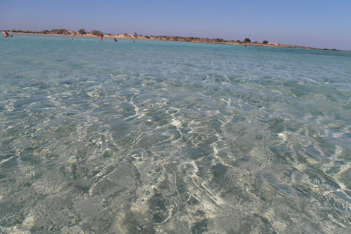 Elafonisi blue sea waters