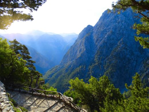 Samaria gorge view from Omalos chania