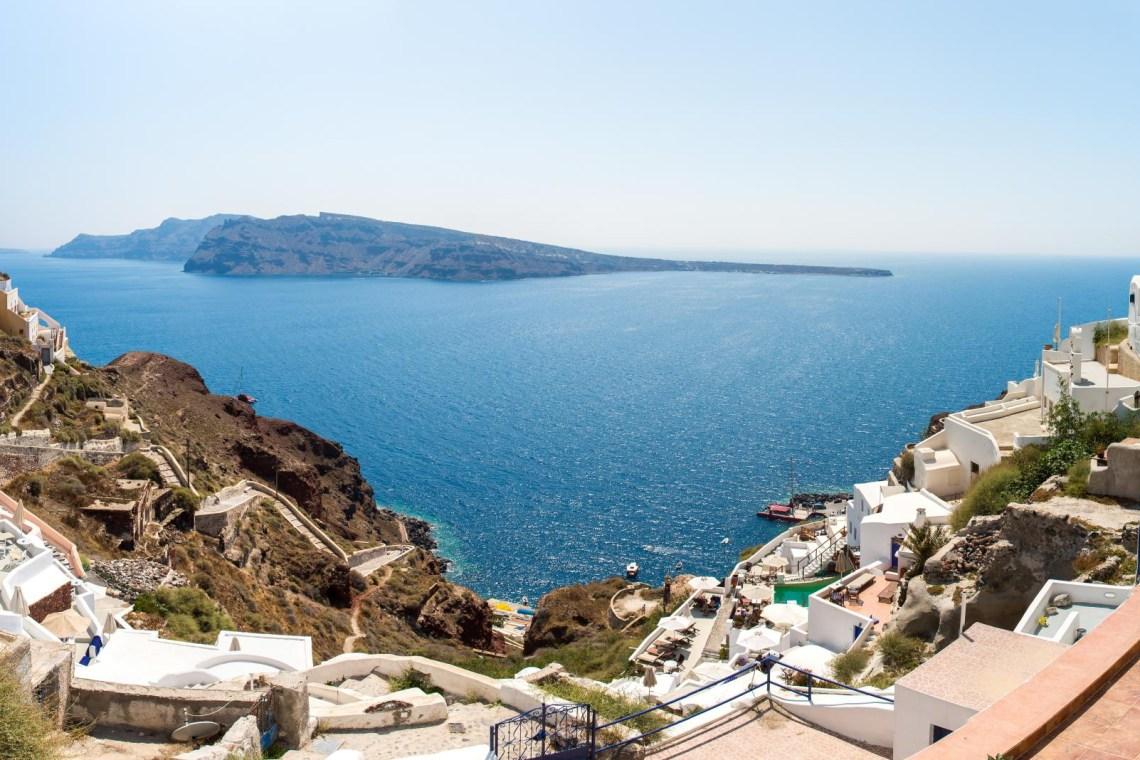 Santorini 180 degrees view