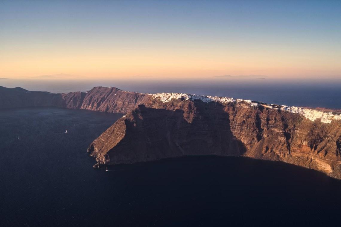 Santrorini caldera view