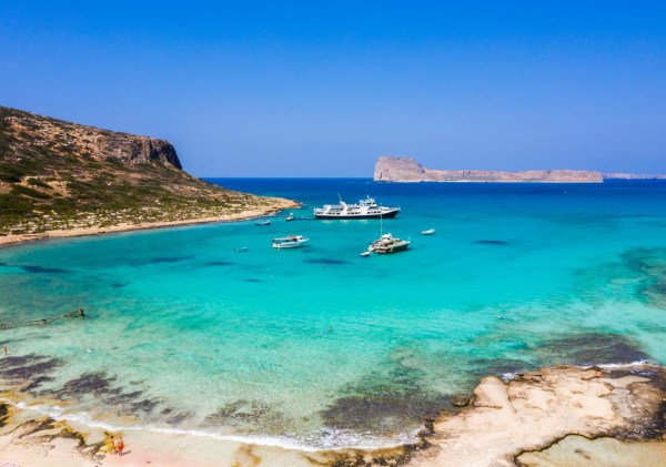 Cruise in Gramvousa and Balos by big boat