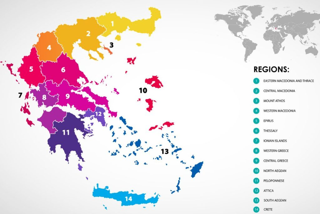Map of Greece and Greek islands DP
