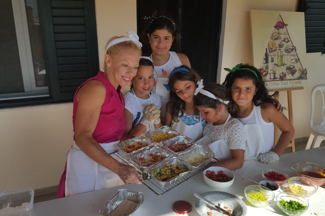 kids love Greece Cretan cuisine cooking class family activities Crete