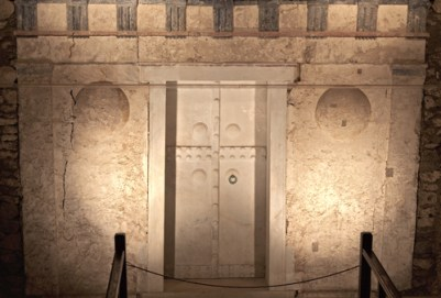 Ancient Macedonian tomb of king Philip the second found at Vergina (Aigai) in Greece