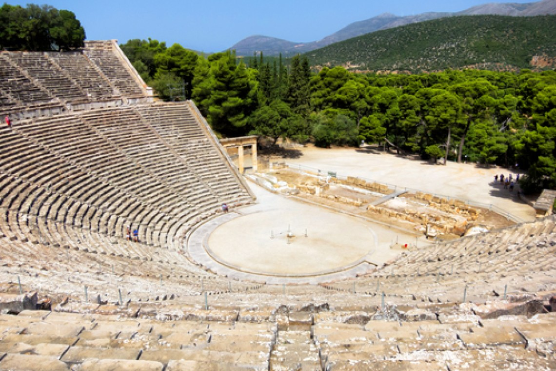 Beautiful ancient Theater in Epidavrus, Greece