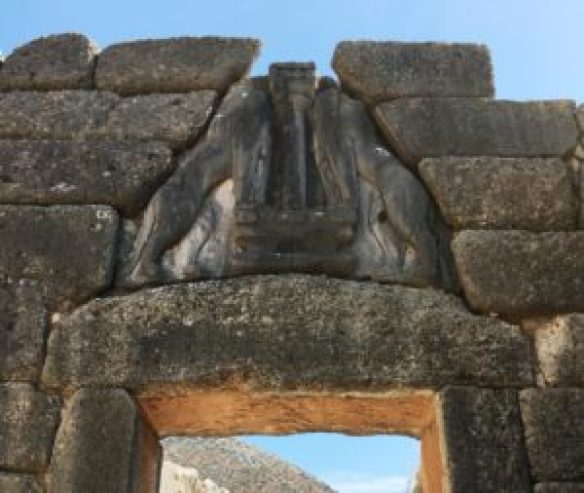 Mycenae entrance of archeological site