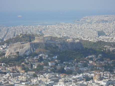 View of Acropolis from Lycabettus Hill