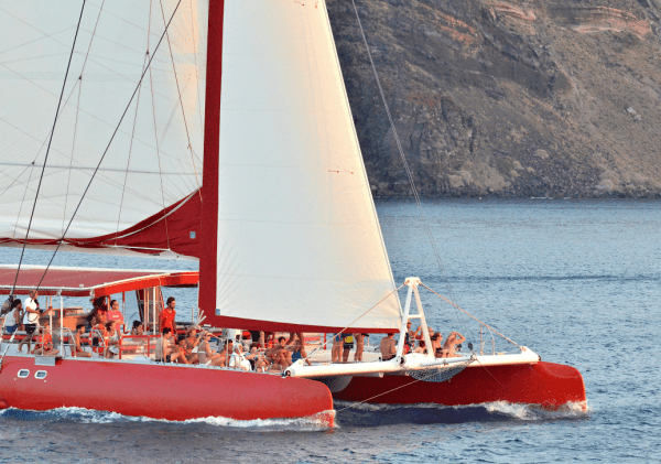 Premium semi-private Santorini Family Sailing Day Tour