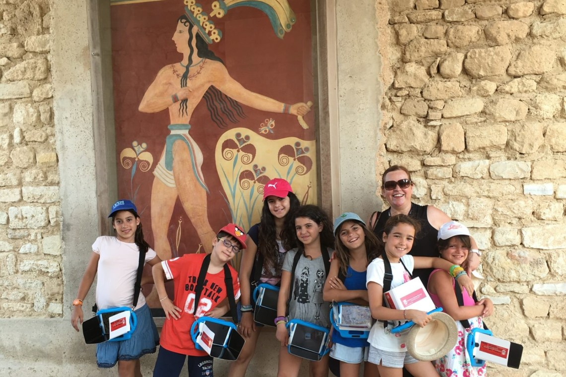 Knossos guided tour 3d app kids