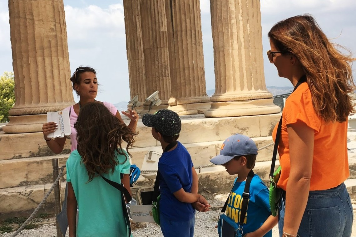 Percy Jackson Mythology Family Trip 7-day Package Acropolis tablets family guided tour kids love greece Athens