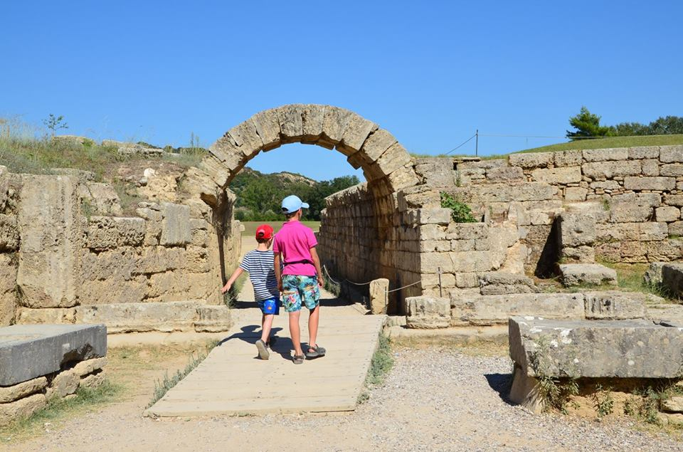 Ancient Olympia family guided tour Percy Jackson Mythology Family Trip 7-day Package activities for families Peloponnese kids love greece