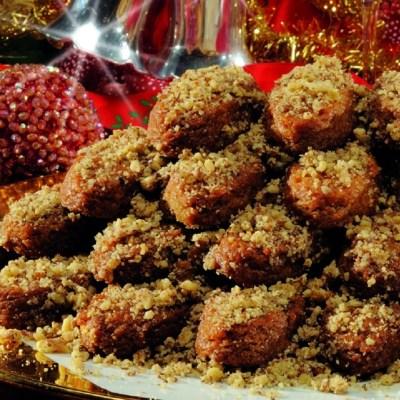 Greek Christmas Traditional Cookie Baking