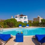 family villa blue stavros akrotiri chania kids love greece accommodation for families