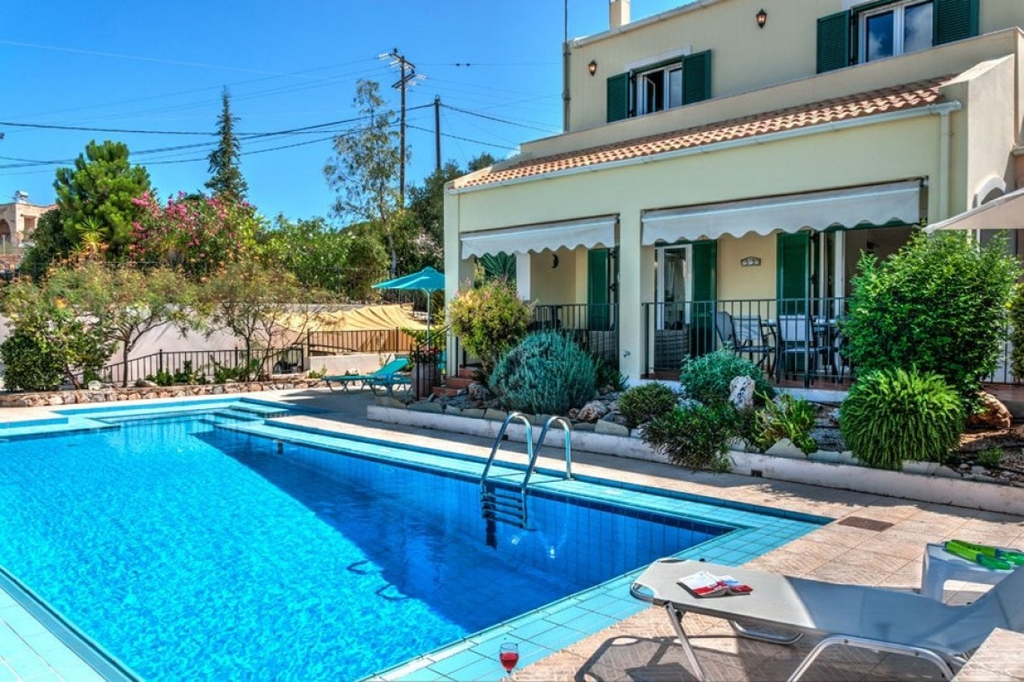 family villa delfini kalo chorio chania crete kids love greece accommodation for families