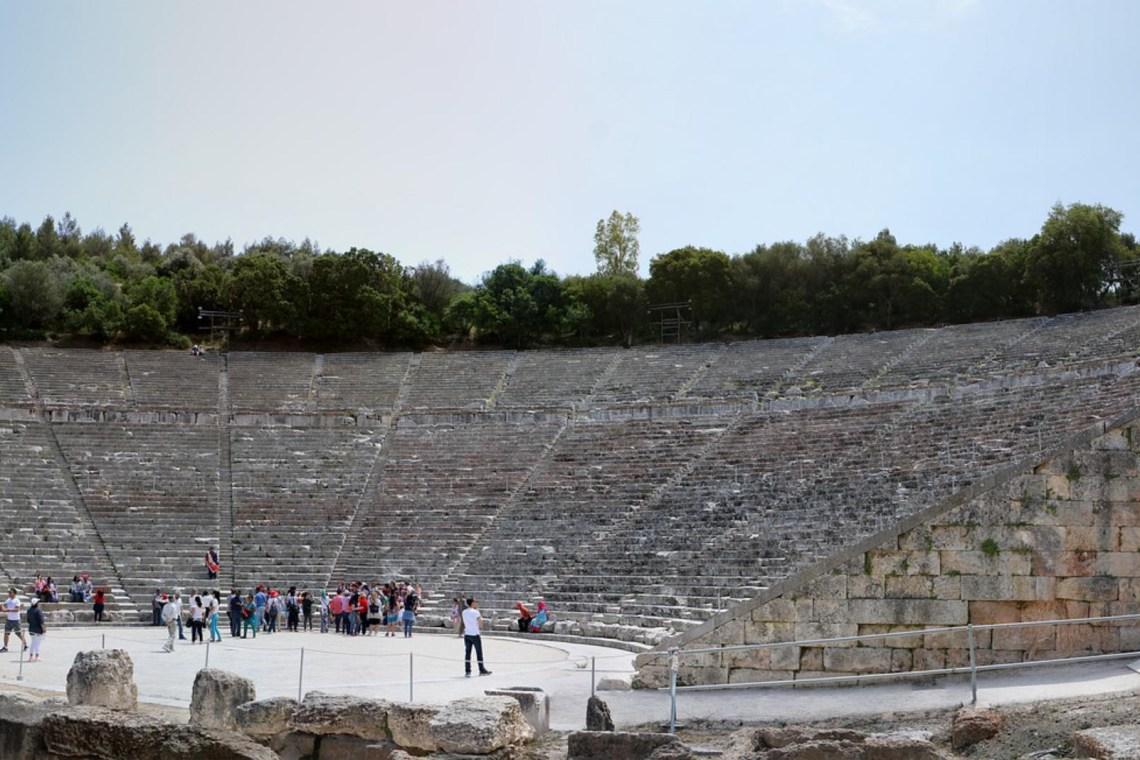 Epidaurus theater Greece KidsLoveGreece.com