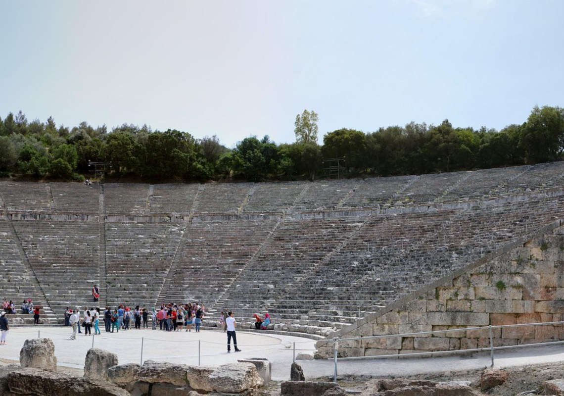 Epidaurus theater Greece KidsLoveGreece.com