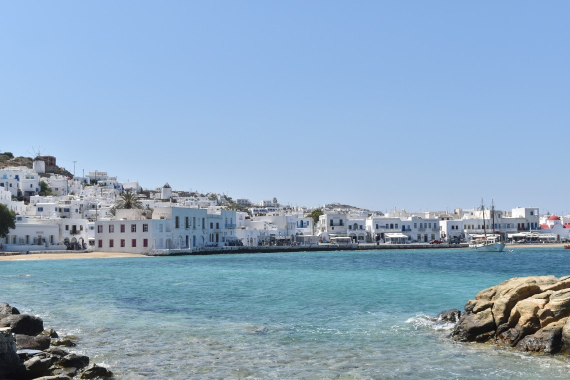 Mykonos port sea