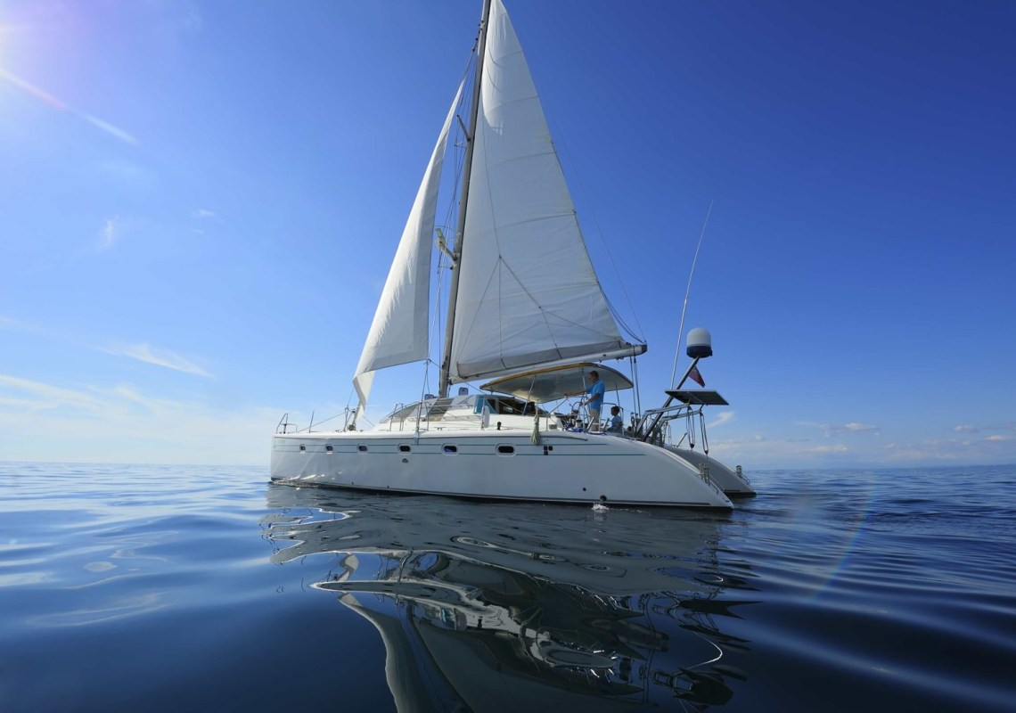 catamaran family sailing trip from Mykonos Cyclades kids love greece activities for families sunset tour
