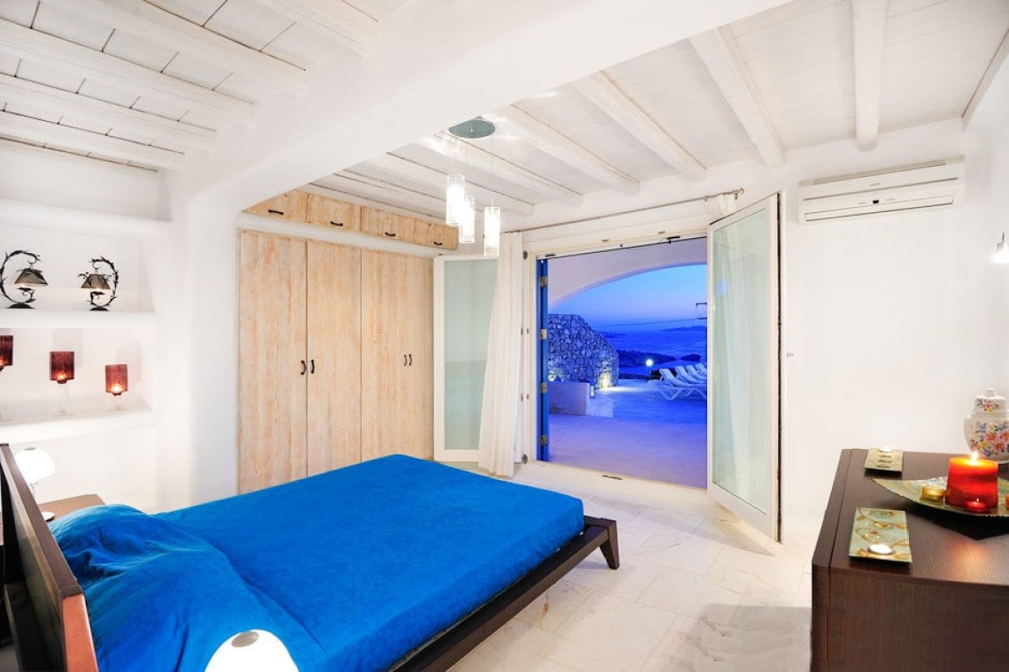 modern family summer house in Mykonos island Cyclades kids love greece accommodation Delos view one Agios Stefanos traditional village