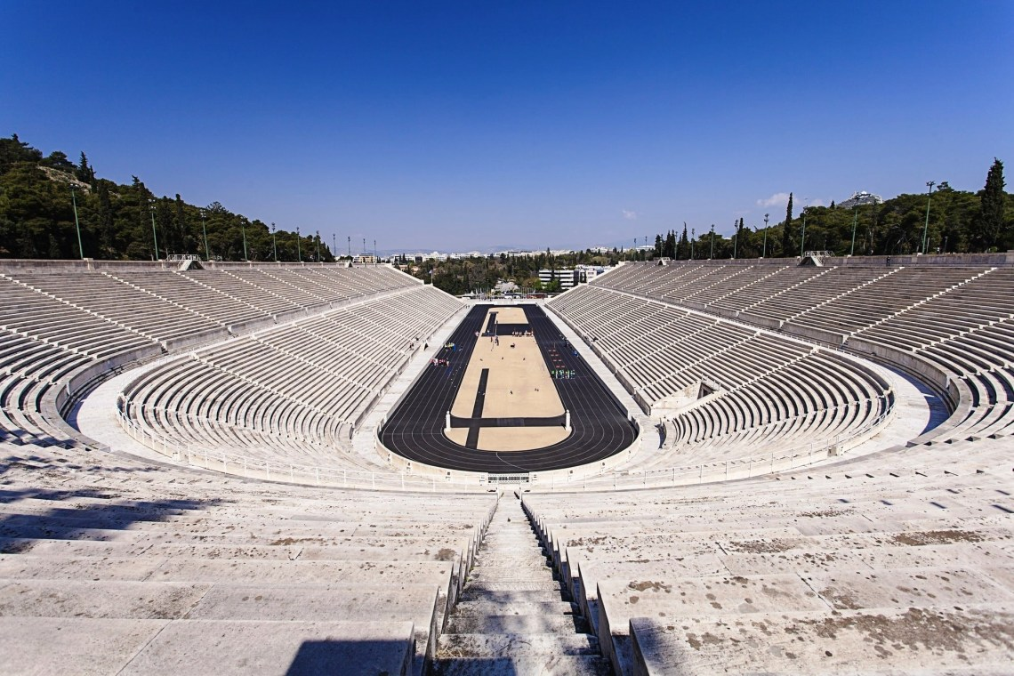 Family Olympics Activity in Athens the Olympic Games workout Panathenaic Stadium Kallimarmaro kids love greece activities for families