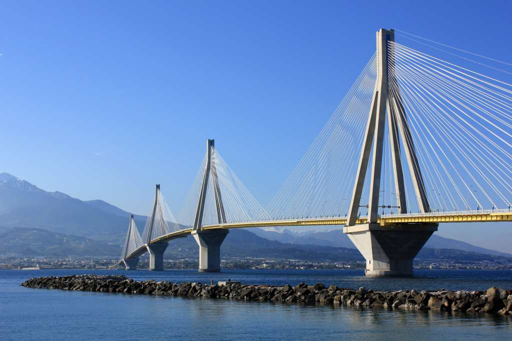 Rio Antirio bridge mythological family road trip in Greece kids love greece