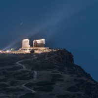 Stargazing at Cape Sounion