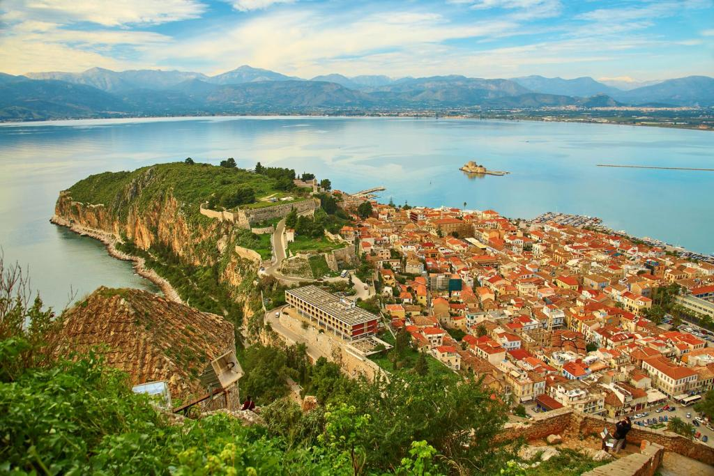 aerial view of Nafplion