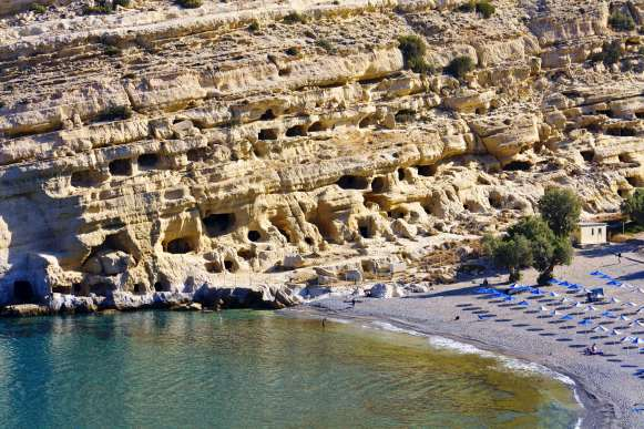 family road trip in Crete Matala kids love greece activities for families
