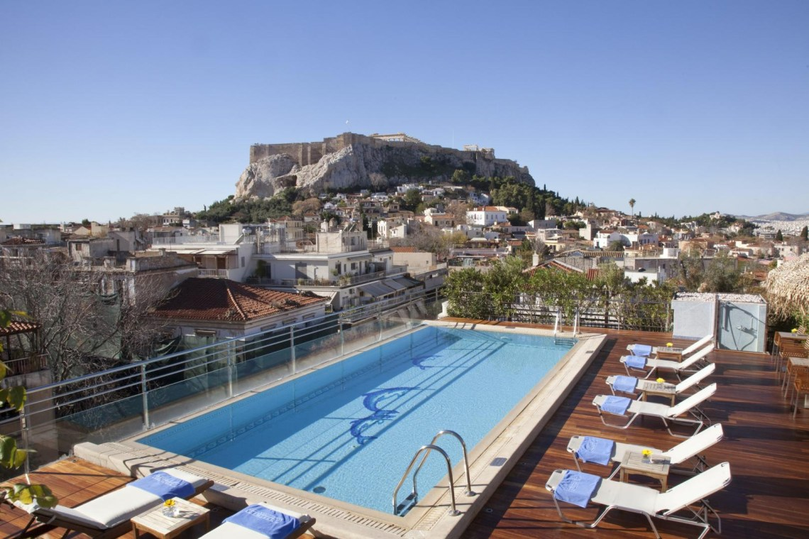 Electra Palace Athens hotel kidslovegreece centrally located Plaka Greece families luxury accommodation kids outdoor pool